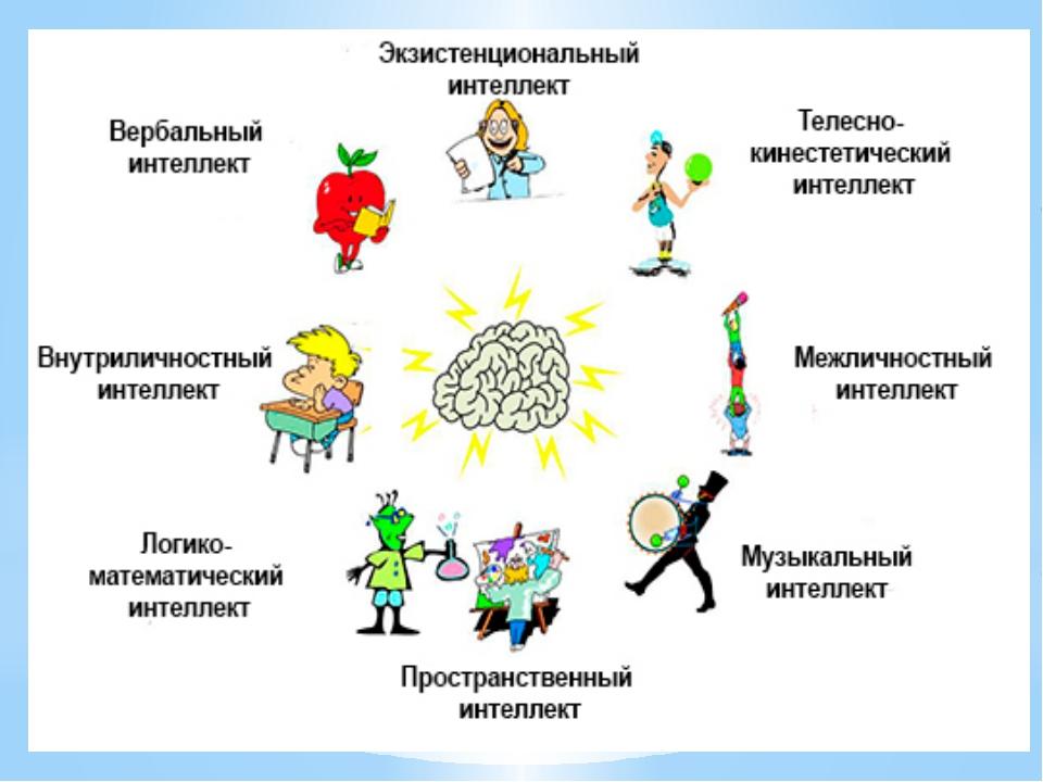 8 типов интеллекта и их особенности