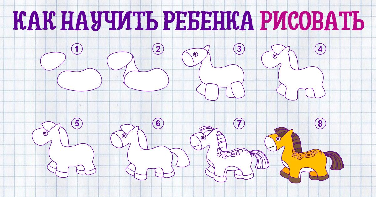 Как научить ребенка правильно рисовать карандашом