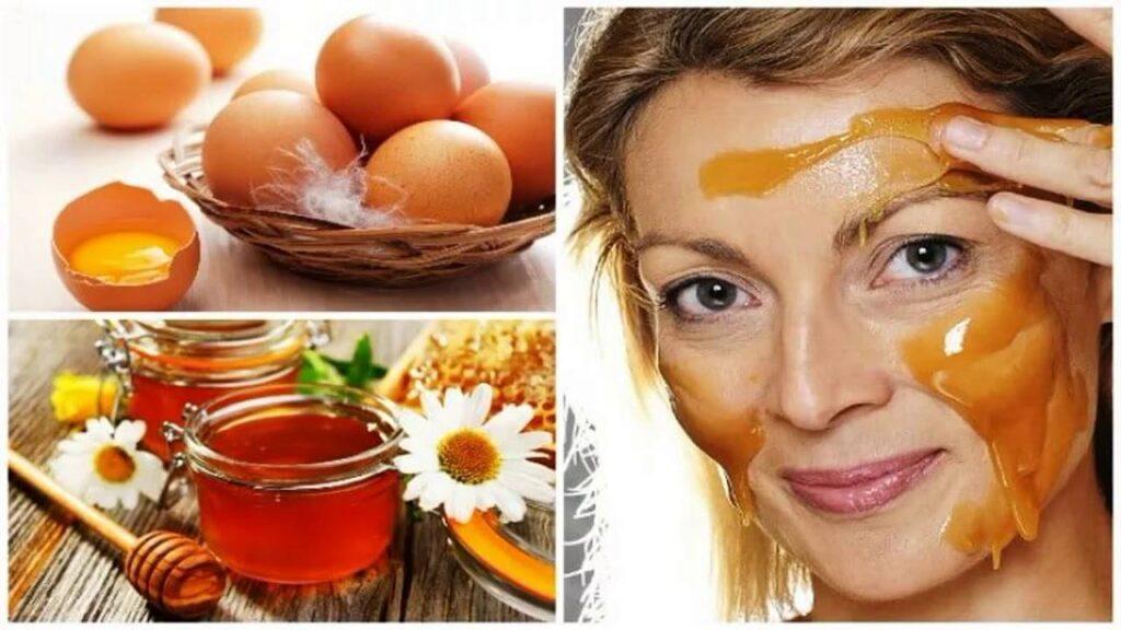 Яичная маска для лица с мёдом